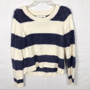 LAUREN CONRAD Cropped Striped Sweater S